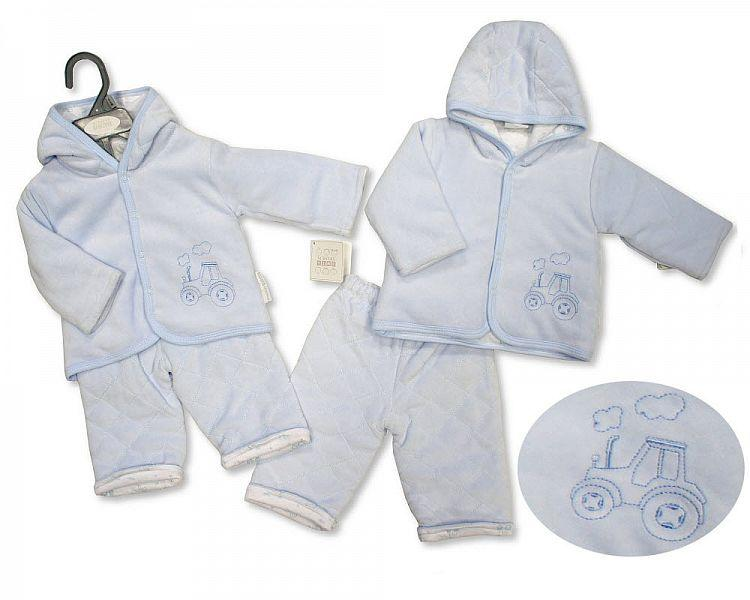 Baby Boys Padded 2 pcs Set - Tractor -0-9M [BIS-2028-2137]