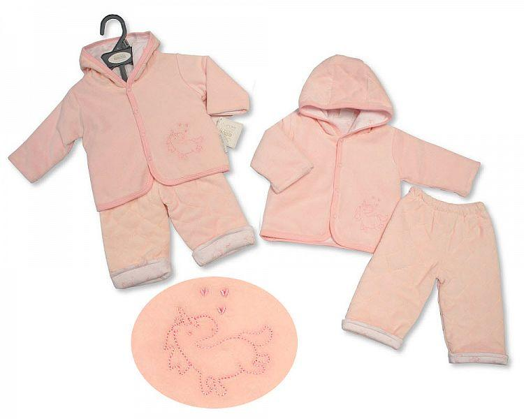 Baby Girls Padded 2 pcs Set - Unicorn - 0-9M - (BIS-2028-2142)