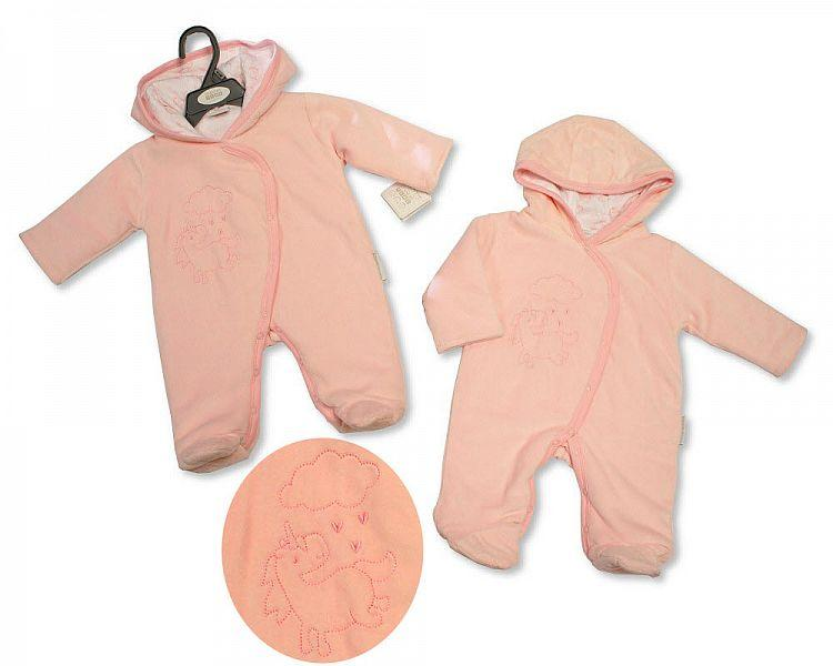 Baby Girls Padded and Hooded All in One - Unicorn - NB-6M - (BIS-2028-2143)