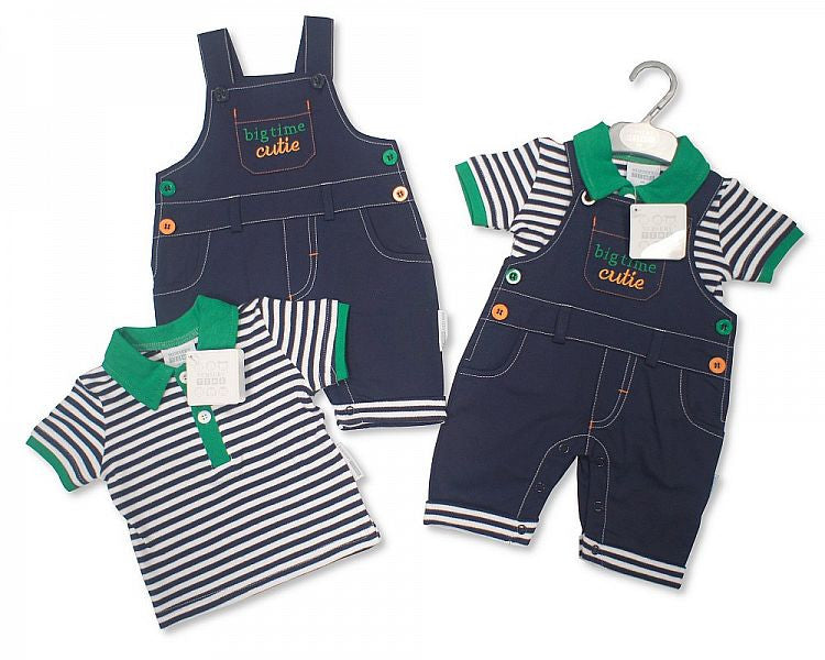 Baby Boys Cotton Dungaree Set Bis 2096-1676