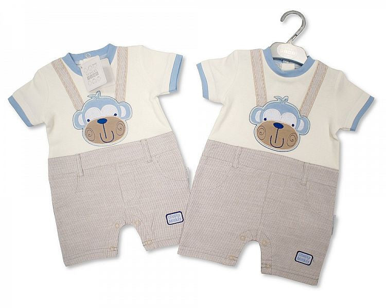Baby Boys Cotton One Piece Set - Cheeky Monkey Bis 2096-1679