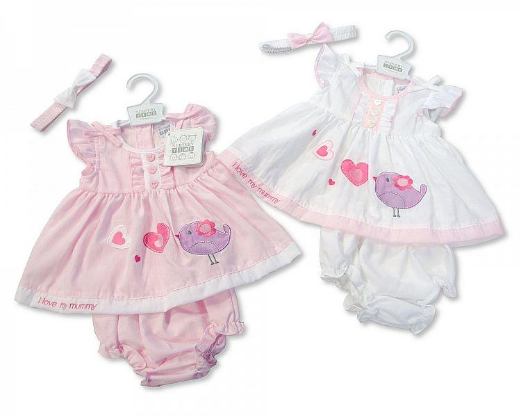 Baby Poly/Cotton Dress - Bridy - NB/6M (BIS-2097-1773)