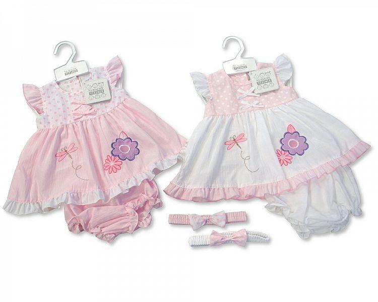 Baby Poly/Cotton Dress - 0/9M (BIS-2097-1780) - Kidswholesale.co.uk