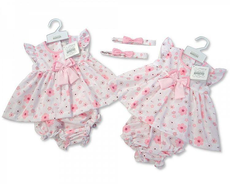 Baby Poly/Cotton Dress - Flowers - 0/9M (BIS-2097-1781)