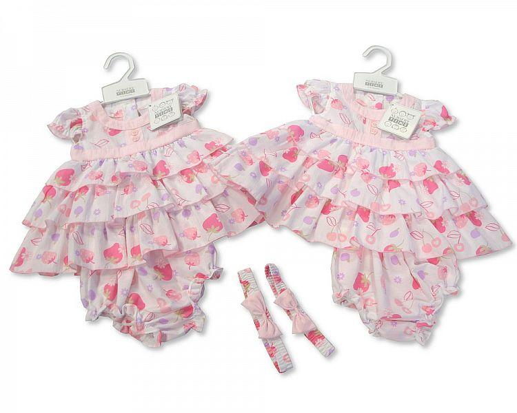 Baby Poly/Cotton Dress - Strawberry - 0/9M (BIS-2097-1782)