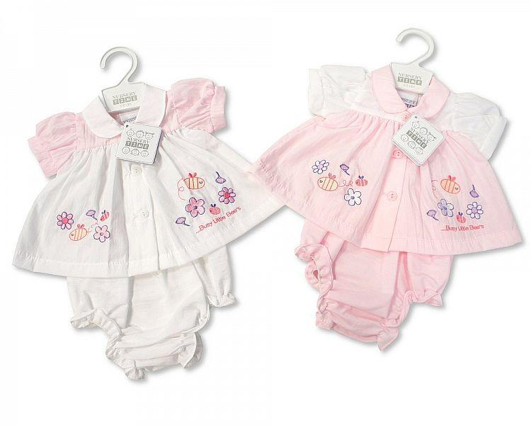 Premature Baby Dress - Busy Little Bees P/W (BIS-2098-1917) 3-8 Lbs