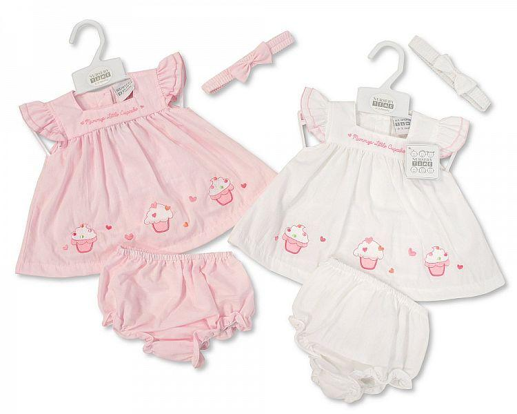 Baby 3pc Dress - Mummy's Little Cupcake - NB/6M (Bis-2098-1927)