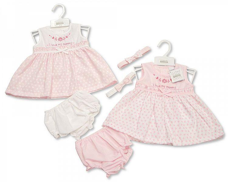 Baby 3pc Dress - I Love My Mummy - 0/9M (Bis-2098-1941)