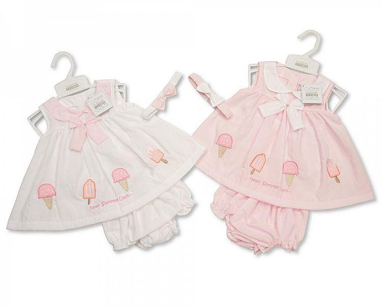 Baby 3pc Dress - Ice Cream - 0/9M (Bis-2098-1943)