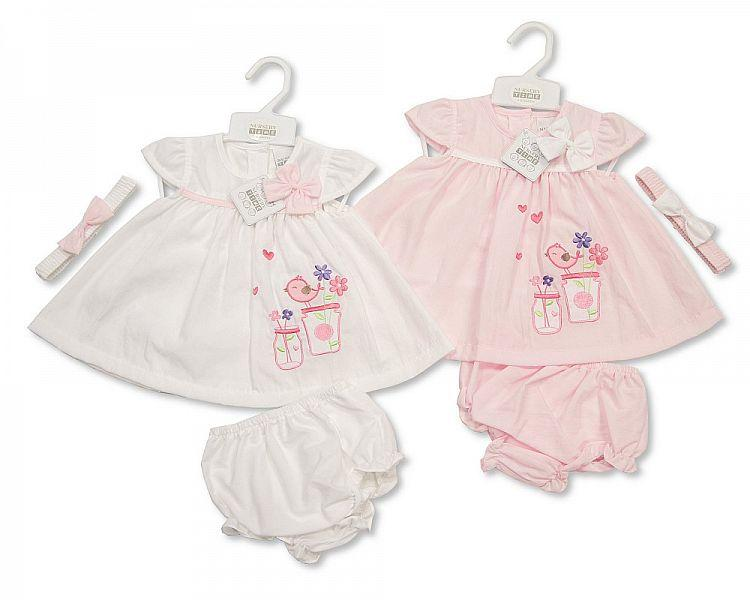 Baby 3pc Dress - Bridy - 0/9M (Bis-2098-1944) - Kidswholesale.co.uk