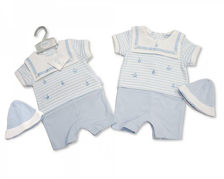 Baby Boys Romper with Hat - Sailor - NB-3 (BIS-2098-1973)