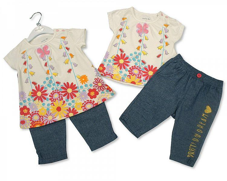 Girls Denim Leggings Set - Pretty Day Dream - 3/24M (BIS-2098-2020)