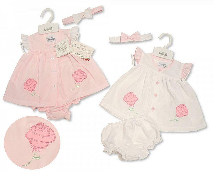 Baby Dress NB-6 Months - Rose - 2159