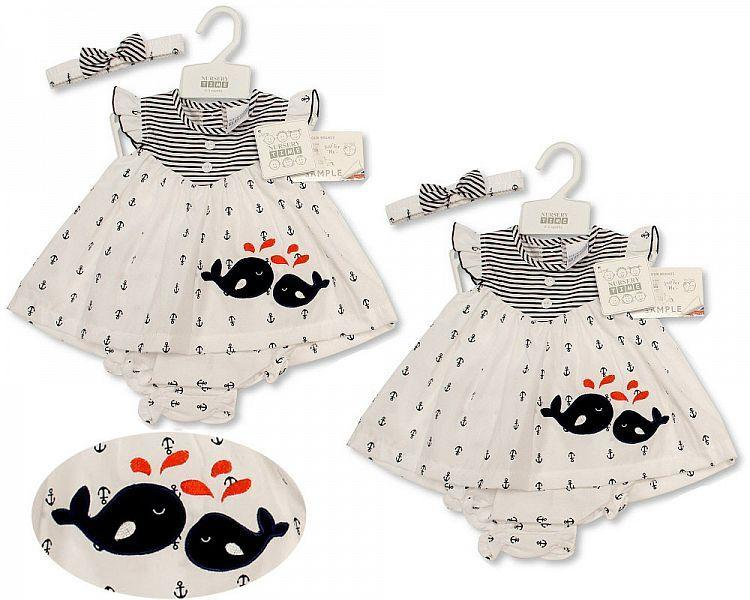 Baby Dress NB-6 Months - Whale - 2160