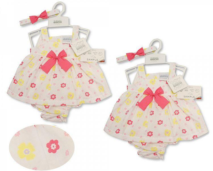 Baby Dress NB-6 Months - Bows - 2162 (Nb-6 Months) Bis-2099-2162