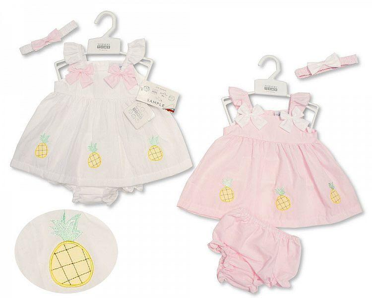 Baby Dress 0-9 Months - Pineapple (0-9 Months)  Bis-2099-2170 - Kidswholesale.co.uk