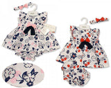 Baby Dress 0-9 Months - Cherries and Flowers - Bis-2099-2176
