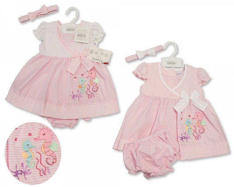Baby Dress 9-24 Months - Seahorse - Bis-2099-2182 - Kidswholesale.co.uk