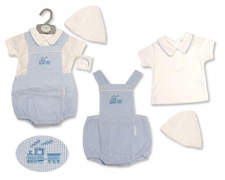 Baby Boys 2 pcs Set with Hat - Train - 2187