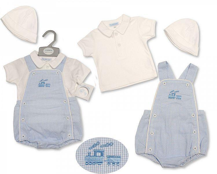 Baby Boys 2 pcs Set with Hat - Train - 2189