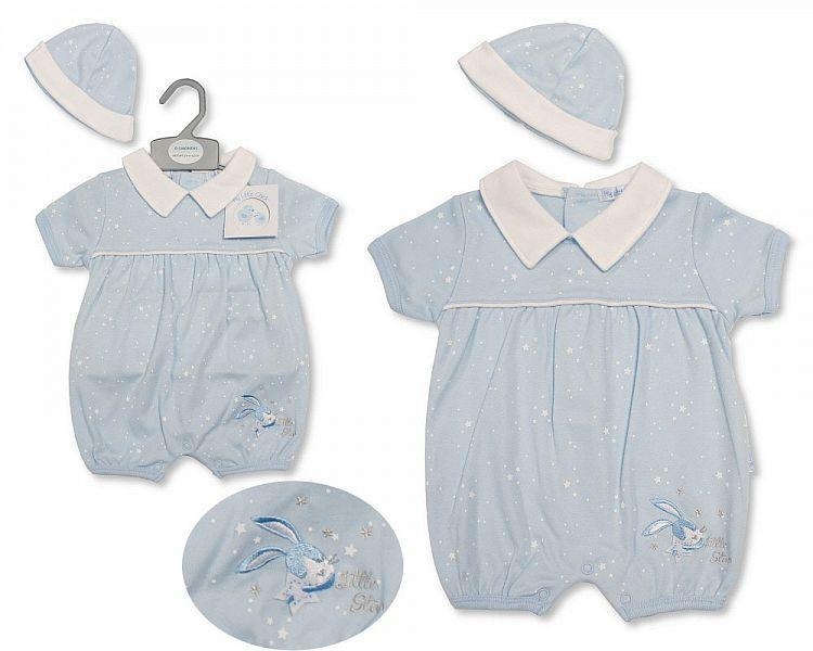 Baby Boys Romper with Hat - Little Star - 2194