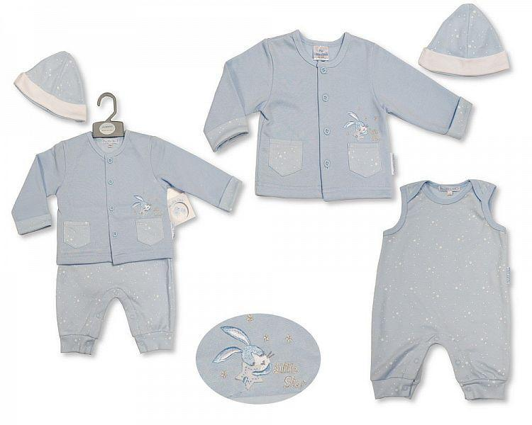 Baby Boys Cardigan Set with Hat - Little Star - 2195