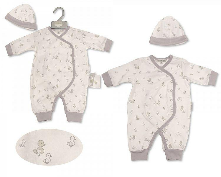 Baby All in One with Hat - Little Ducklings (BIS-2099-2207) - Kidswholesale.co.uk