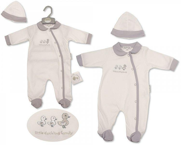 Baby All in One with Hat - Little Ducklings (BIS-2099-2210) - Kidswholesale.co.uk