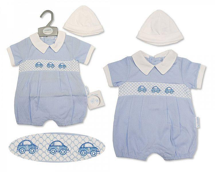 Baby Boys Romper with Hat - Beep Beep - 2214