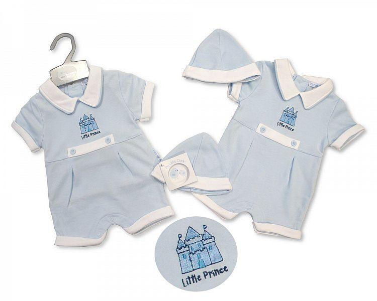 Baby Boys Romper with Hat - Prince - 2223