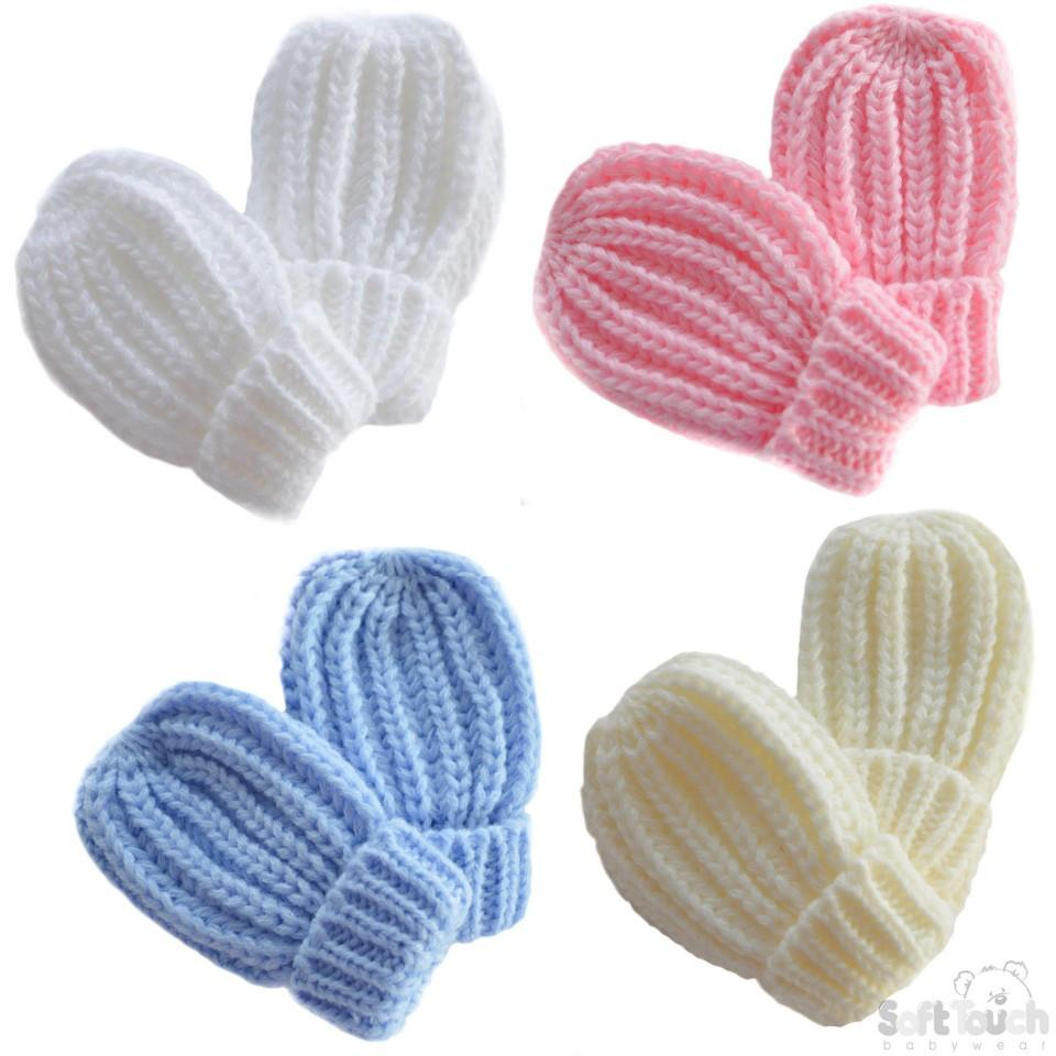 Small Plain Ribbed Mittens (BM02-SM)