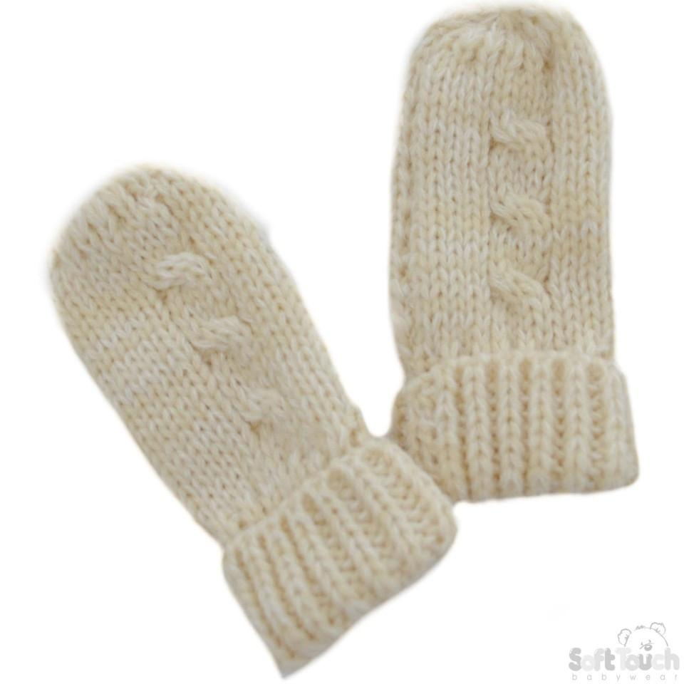 Small Beige Mittens (BM04-BE-SM)