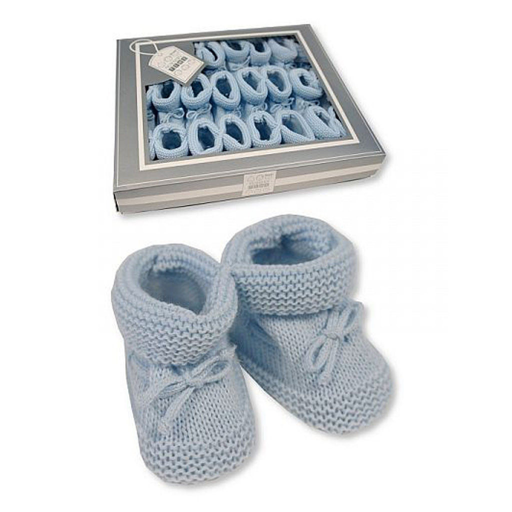 Knitted Tie-Up Baby Booties (0-3 Months) Bss-116-359S