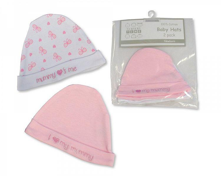 Baby Girls Hats 2-Packs - Mummy Loves Me [BW-0503-0521]