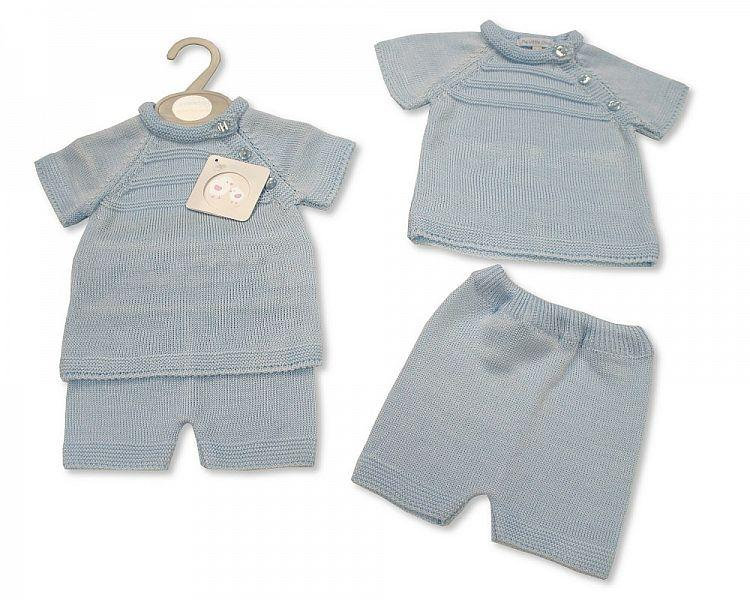 Knitted Baby Boys 2 pcs Set -060 (0-9 Months) Bw-10-060