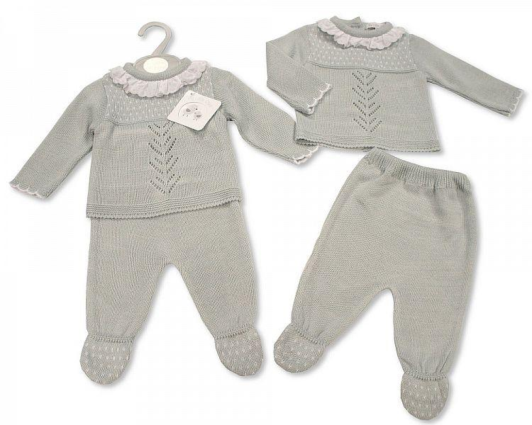 Knitted Baby 2 pcs Pram Set -062 (0-9 Months) Bw-10-062 - Kidswholesale.co.uk