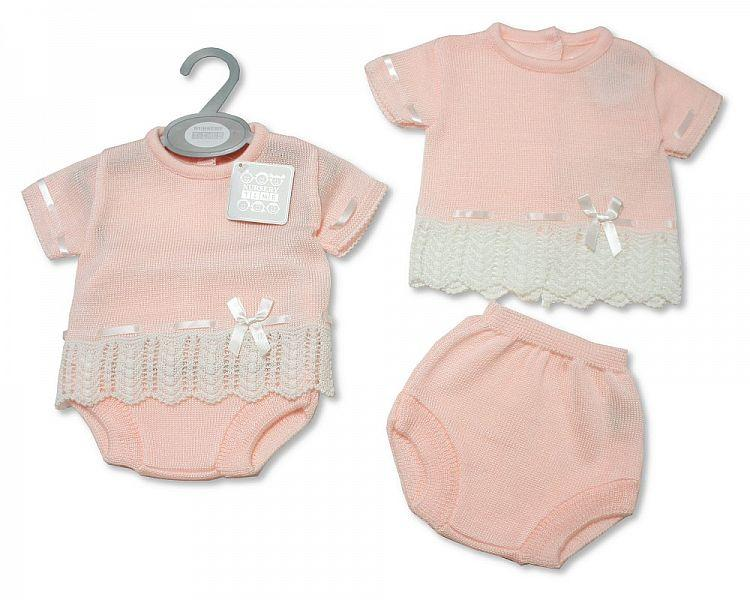 Baby Girls Knitted 2 pcs Set (NB-9 Months) Bw-10-085