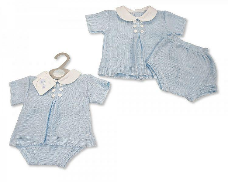 Knitted Baby Boys 2 pcs Set with Buttons (0-9 Months) Bw-10-098