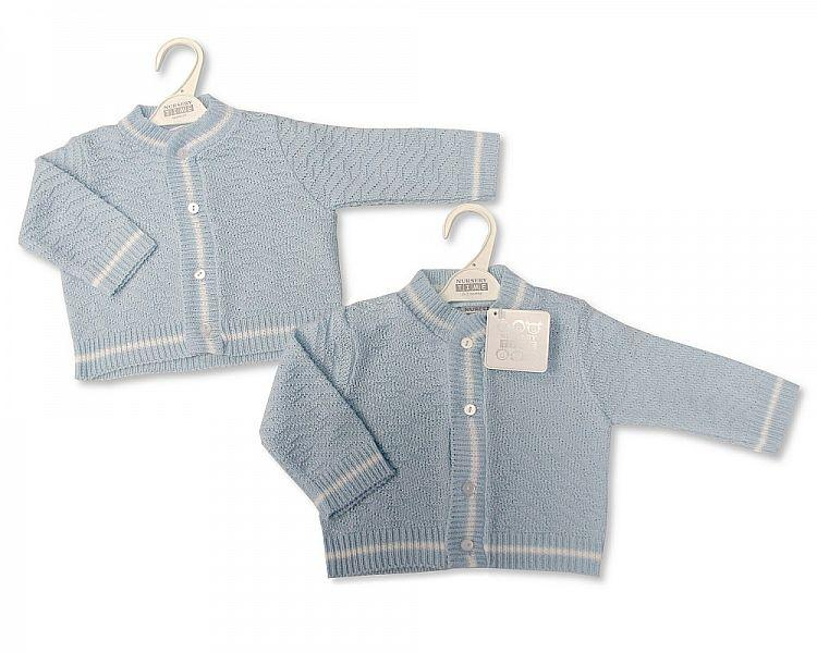 Knitted Baby Boys Cardigan - NB-6M - [BW-10-522]