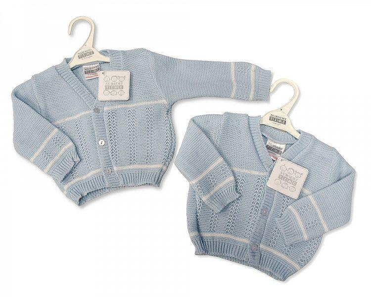 Knitted Baby Boys Cardigan - 6/24M - Bw-10-523a