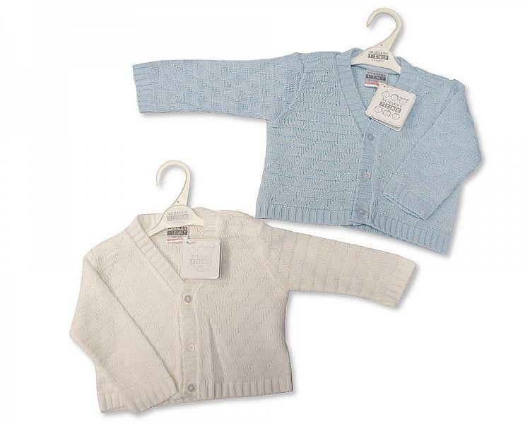 Knitted Baby Boys Cardigan - 6/24M - Bw-10-525a
