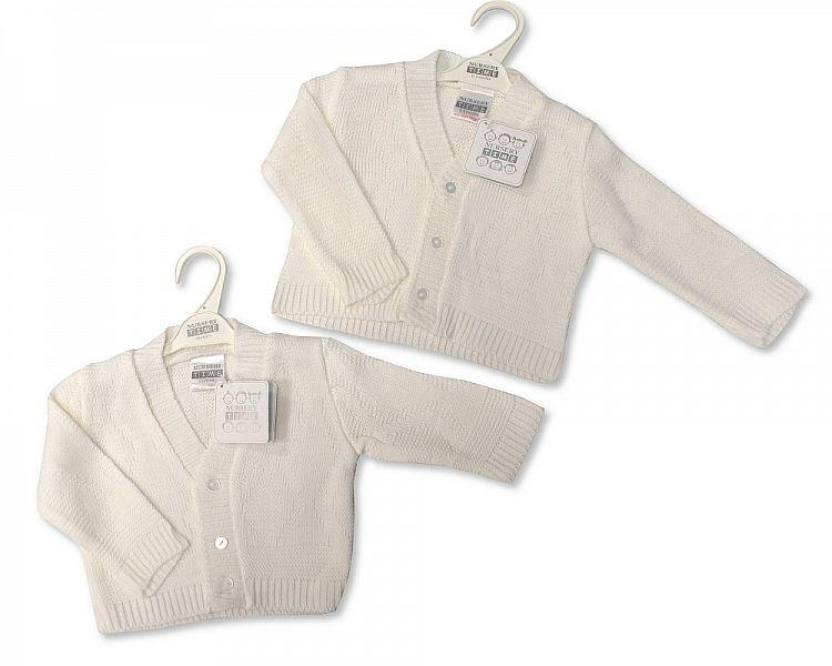 Knitted Baby Girls Cardigan - 530a - Kidswholesale.co.uk