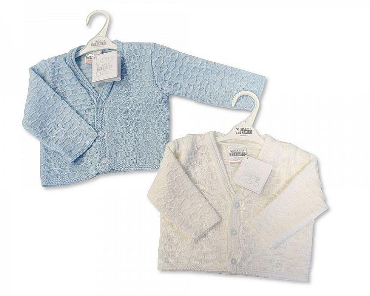 Knitted Baby Boys Cardigan - NB/6M - (Bw-10-531) - Kidswholesale.co.uk