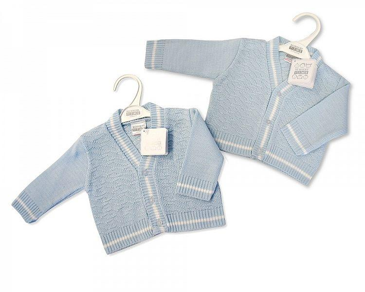 Knitted Baby Boys Cardigan - NB-6M - (Bw-10-532)