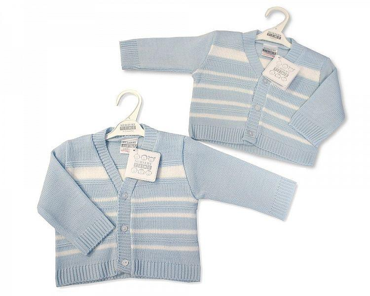 Knitted Baby Boys Cardigan - NB-6M - Bw-10-533