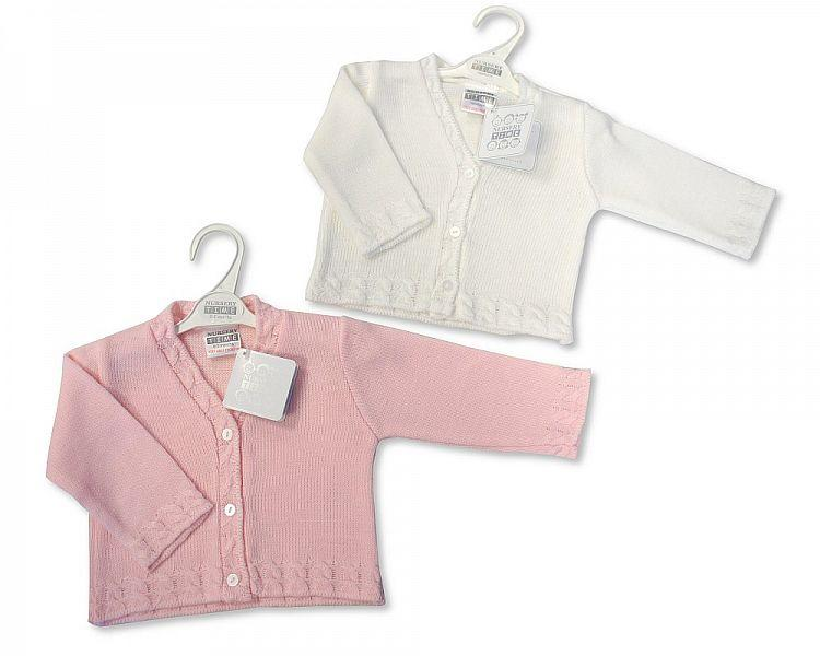 Knitted Baby Girls Cardigan - NB/6M - Bw-10-536