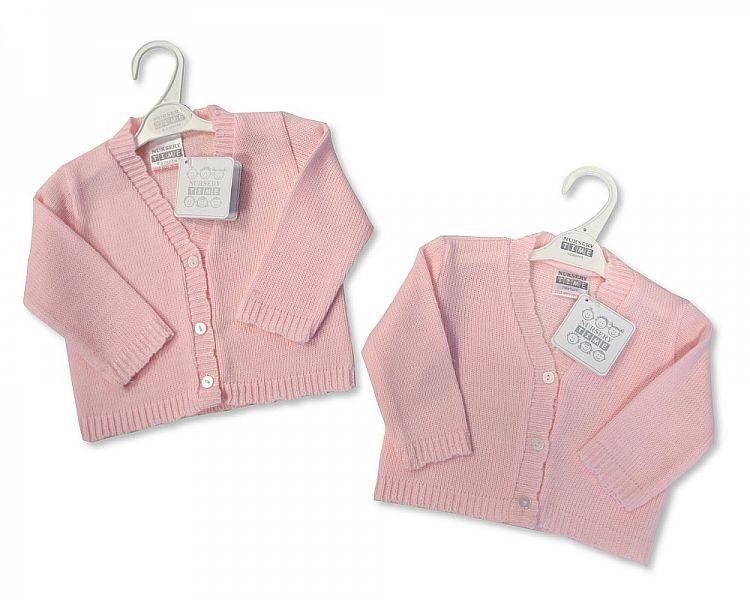 Knitted Baby Girls Cardigan - NB/6M - (BW-10-538)