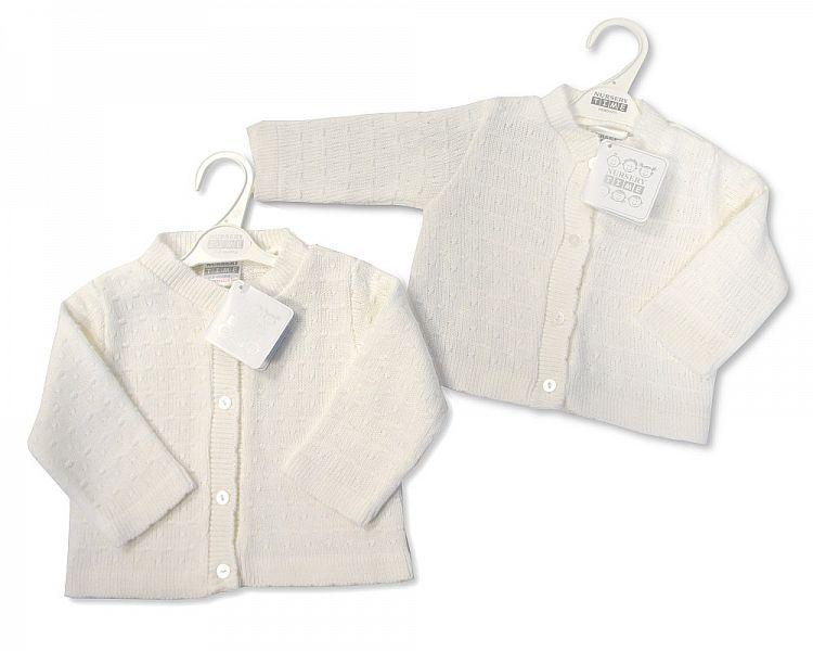 Knitted Baby Girls Cardigan - NB/6M - (BW-10-539)