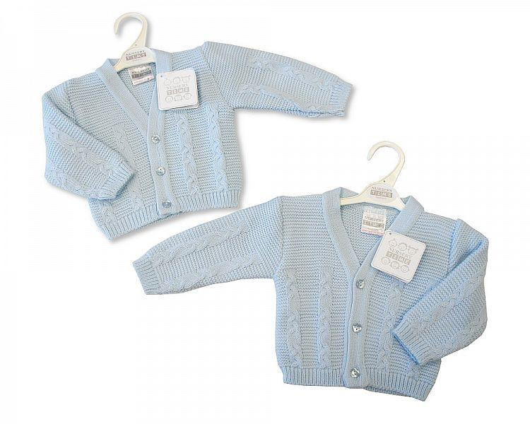 Knitted Baby Boys Cardigan - NB/6M - (Bw-10-553)