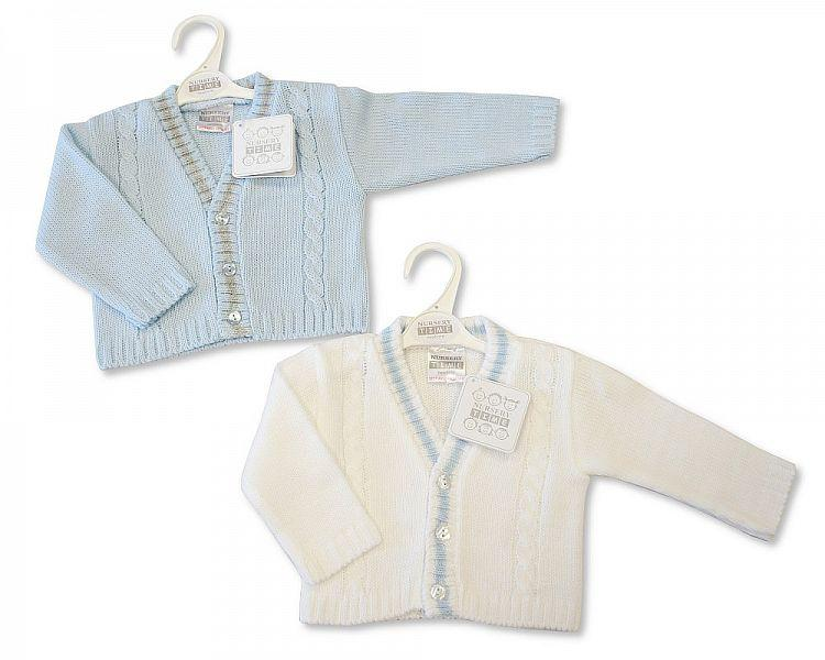 Knitted Baby Boys Cardigan - NB/6M - (Bw-10-554)